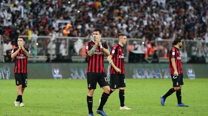 Milan Supercoppa defeat