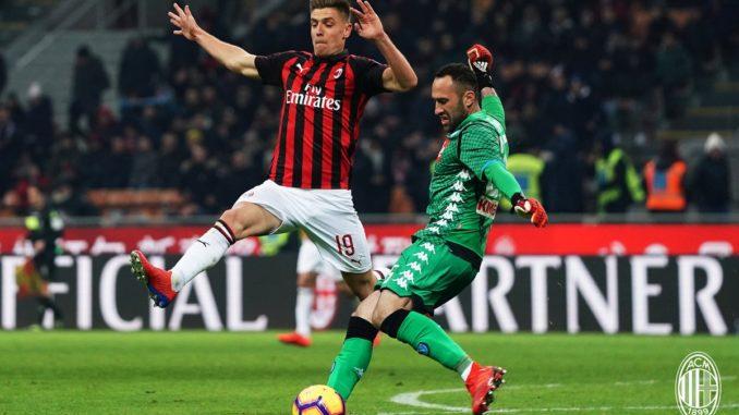 Piatek AC Milan debut