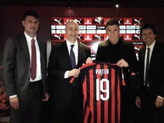 Piatek AC Milan unveiling Maldini Leonardo Gazidis