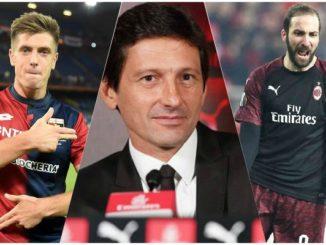 Piatek Higain Leonardo AC Milan transfer news