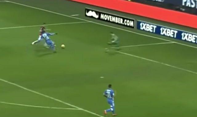 Piatek Milan debut Napoli