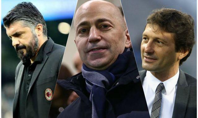 Gattuso Gazidis Leonardo AC Milan