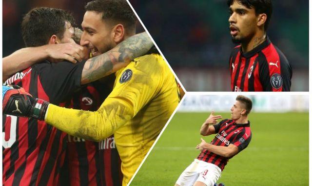 Piatek Paqueta Romagnoli Donnarumma AC Milan